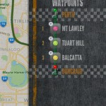 And to set it to reroute just tap on the map